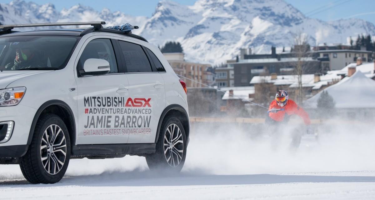 Mitsubishi ASX, snowboard i rekord świata